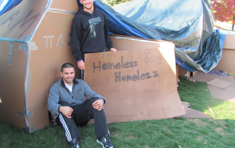 "Pi Lambda Phi Members are ""Homeless for the Homeless"" During SHU's Homecoming Week"