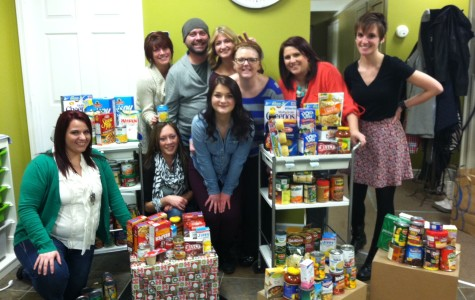The staff at Golden Image Salon in Tecumseh helped SHU with its annual food drive. (Photo Amy Garno)
