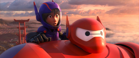 Hiro and Baymax suited up in Disney's