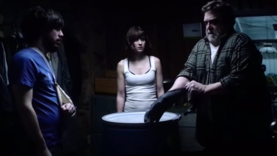 10 Cloverfield Lane is Rated PG13 for Thematic material including frightening sequences of threat with some violence, and brief language. Is being released March 11th 2016 and is directed by Dan Trachtenberg which is being distributed by Bad Robot productions.